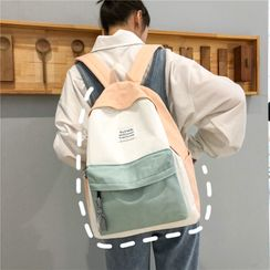 Beamie - Canvas Color Block Backpack