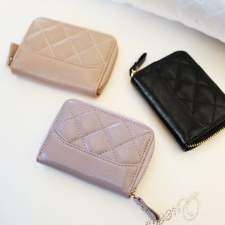 Rinka Doll - Quilted Faux Leather Coin Purse