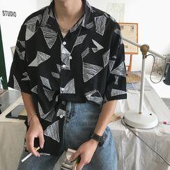 Artistman - Printed Elbow-Sleeve Shirt