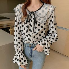 Meowko - Dotted Blouse