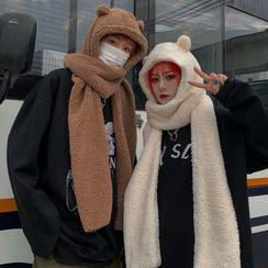 Koiyua - 连围巾冬帽
