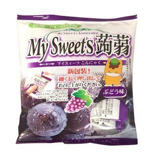 Three O'Clock - Shimonita My Sweets Konnyaku Jelly Grape Flavor