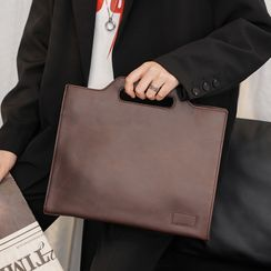 ETONWEAG - Plain Faux Leather Briefcase
