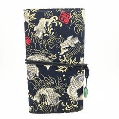 AME - Print Makeup Brush Roll Bag