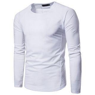 Hansel - Plain Long-Sleeve T-Shirt