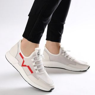 Snowpard - Contrast Trim Lace-Up Sneakers