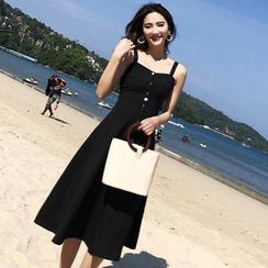 Ashlee - Sleeveless A-Line Midi Dress