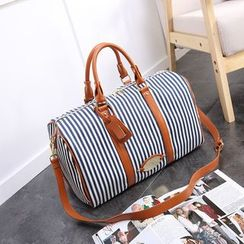Annmuu - Pinstripe Travel Carryall Bag
