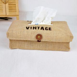 Hyole - Lettering Fabric Tissue Box