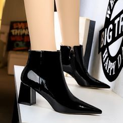 PRIN - Pointed Block Heel Ankle Boots