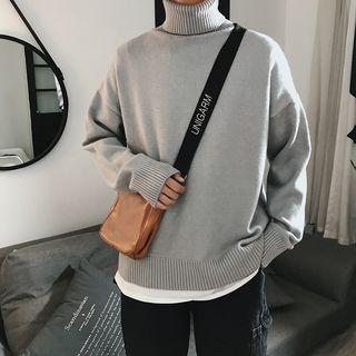 YERGO - 高领纯色针织上衣