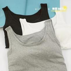 MITU - 带胸垫无钢圈一体式打底背心