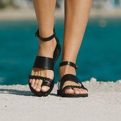 Cinnabelle - 套趾多带罗马凉鞋