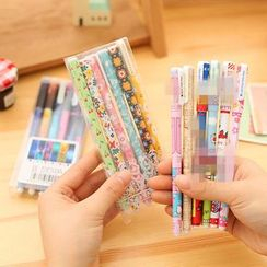 Dukson - Set of 6: Cartoon Print Pen