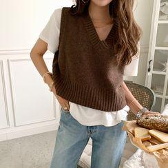 NANING9(ナンニング) - V-Neck Woolen Knit Vest
