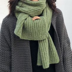 Amandier - 纯色针织围巾