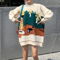 Jezpa - Maternity Print Sweater