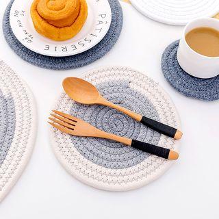 Fun House - Circular Fabric Coaster