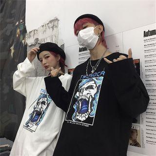 Shineon Studio - 情侶款印花長袖T裇