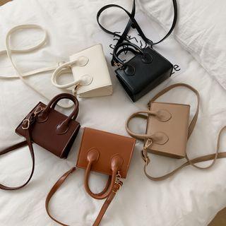 Perlin - Plain Top Handle Crossbody Bag