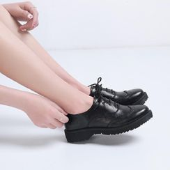 Freesia - Platform Oxford Shoes