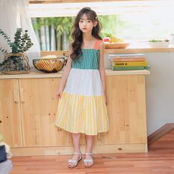 Cuckoo - Kids Patterned Sleeveless A-Line Dress