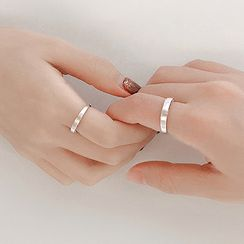 Cmill - 925 Sterling Silver Brushed Open Ring