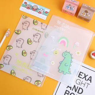 Candy Lemon - Cartoon Print Transparent Document Folder