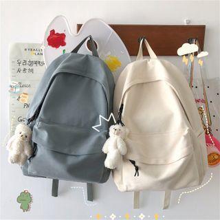 Mini Mia - Plain Canvas Backpack