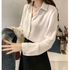JOWI - 翻領雪紡襯衫
