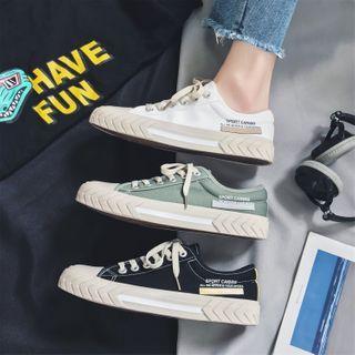 YERGO - Lettering Canvas Sneakers
