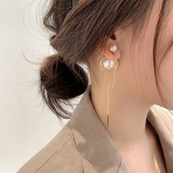 DREN - Faux Pearl Drop Earrings