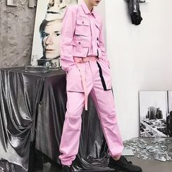 Bjorn(ビョルン) - Pocketed Long-Sleeve Jumpsuit