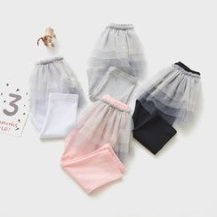 Cuckoo - Kids Insert Leggings Mini A-Line Mesh Skirt
