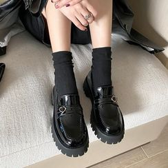 JY Shoes - Patent Platform Loafers