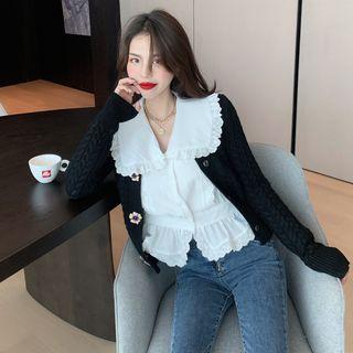 Alfie - 蕾絲皺摺長袖襯衫