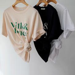 NIPONJJUYA(ニッポンチューヤ) - Letter Print T-Shirt