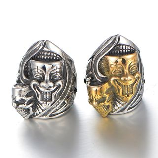 Sigil - Stainless Steel Joker Mask Ring