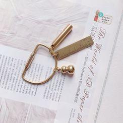 Hello minto - Brass Whistle Ruler Keyring