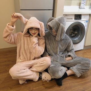 Whoosh - Couple Matching Long-Sleeve Rabbit Pajama Bodysuit