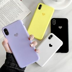 Mobby - Heart Print Silicone Mobile Case - iPhone XS Max / XS / XR / X / 8 / 8 Plus / 7 / 7 Plus / 6s / 6s Plus