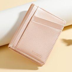Taomicmic(タオミクミク) - Plain Faux Leather Card Holder