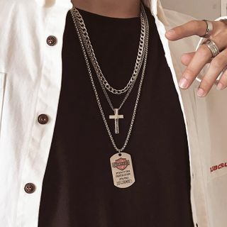 InShop Watches - Alloy Cross / Tag / Necklace / Set