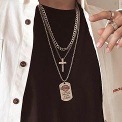 InShop Watches(インショップウォッチズ) - Alloy Cross / Tag / Necklace / Set