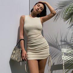 Colada - Drawstring Mini Tank Dress
