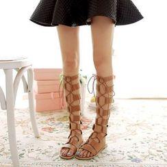 Cinnabelle - Faux Leather Roman Sandals