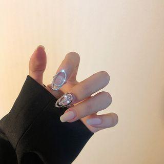 Poppin - 水钻指甲戒指