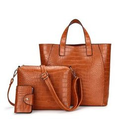 Mayanne - 三件套: 手提包 + 斜挎包 + 卡套