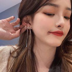 INKGLOW - 925 Sterling Silver Bow Earring