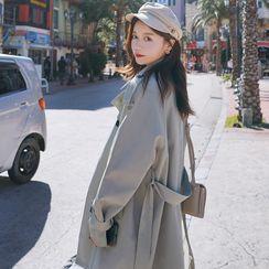 讴若缇 - 双排扣风衣外套